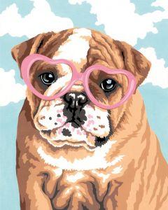 Schilder op nummer honden liefde Dimensions 73-91693