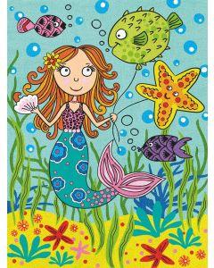 Kleuren op nummer zeemeermin met vrienden Dimensions 73-91696