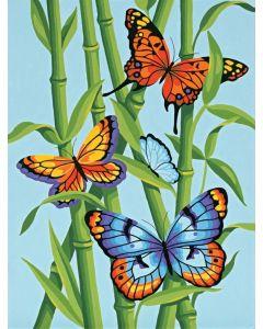 Schilderen op nummer vlinders Dimensions 91258