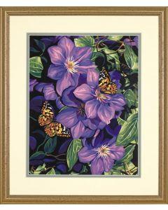 Schilderen  op nummer clematis en vlinders Dimensions 91403