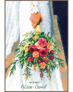 Borduurpakket bruidsboeket van Vervaco pn-0189338