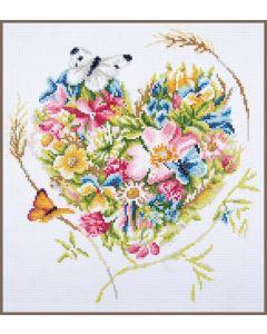 Diamond Painting pakket 'bloemenhart van Lanarte PN-0189503