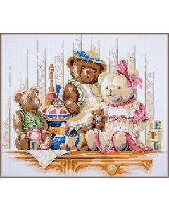 Diamond Painting pakket speelgoed en beren van Lanarte PN-0189504