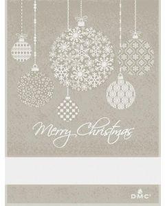 DMC keukendoek Kerstcadeautjes  met borduurrand beige