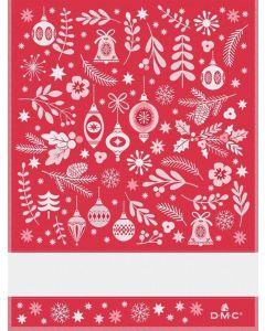 DMC borduurboekje met kerstmotieven speciaal voor de theedoeken van DMC