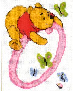 Borduurpakket winnie the pooh telpakket alfabet O van Vervaco