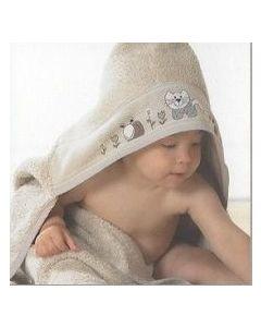 Rico Design baby cape met aida rand op capuchon om te borduren beige740223.65