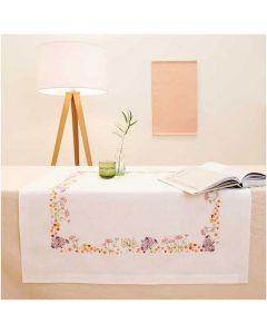 Rico Design borduurpakket tafelkleed herfstbloemen 68308.52.21 voorbedrukt
