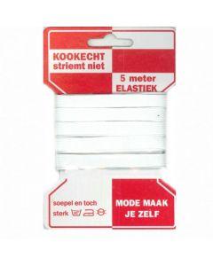 Mondkapjes elastiek kopen? Rode kaart plat elastiek 10mm