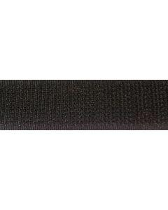 Zwarte, grove kant klittenband, 5cm
