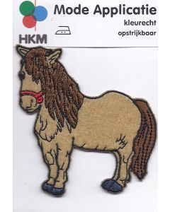 Beige getinte pony als applicatie.