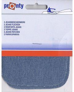 Lichte jeans kleur kniestukken, 2 stuks