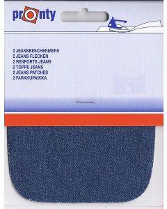 Jeans kleur kniestukken, 2 stuks