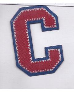 Rood met blauw letter C applicatie.