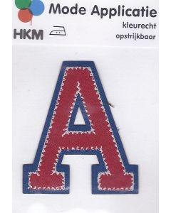Rood met blauw letter A applicatie.