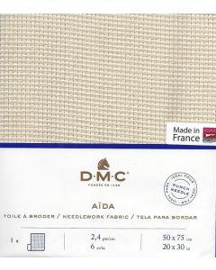 Aida 6ct borduurstof dmc kleur ecru afm. 50x75 cm