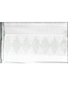 Rico Design baddoek met aida rand om te borduren mint groen ruit 740259.66
