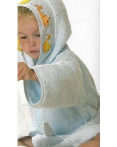 Rico Design baby badjas met aida rand op capuchon om te borduren LICHT BLAUW 740222.00