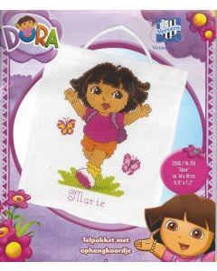Borduurpakket Dora met telpatroon van Vervaco 16.701