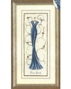 Vervaco borduurpakket blauw avondkleed om te borduren 75.061