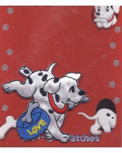 Rennende 101 dalmatier met voerbak applicatie van Disney.