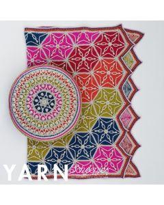 Scheepjes Flower of life poef haken uit Yarn 9 Now Ago! van Chunky Monkey