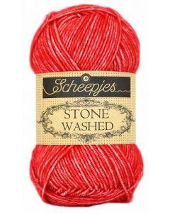 Stone Washed van Scheepjes, kl.823 carnelian rood