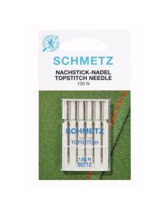 Schmetz naaimachinenaalden topstitch 80/14 met groot oog