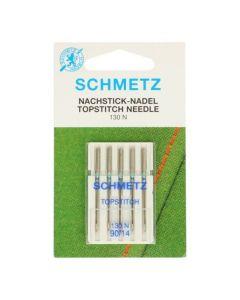 Schmetz naaimachinenaalden topstitch 90/14 met groot oog
