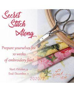 Na het succes van de voorgaande Secret Stitch Along start 9 oktoberde tweedeSecret Stitch Along van 2020. Dit keer is het een ontwerp van Lanarte.