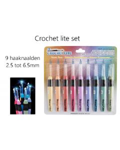 Crochet Lite set, de haaknaald met lampje 2.5 t/m 6.5mm