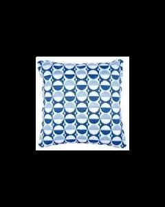 Borduurpakket spansteek kussen blauwe bollen