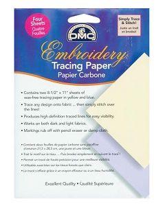 Overtrekpapier van DMC wordt gebruikt om ontwerpen te traceren op uw stof.