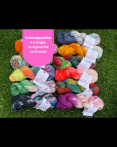 Verrasingspakket handgeverfde sokkenwol Lana Grossa Meilenweit