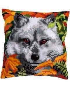 Vervaco borduurkussen wolf pn-0158066