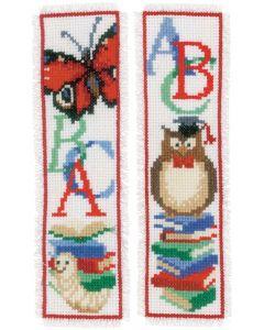 Vervaco borduurpakket 2 boekenleggers boekenwurm borduren pn-0173641