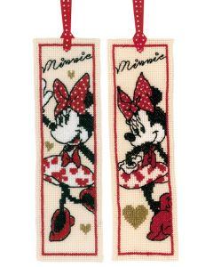 Vervaco borduurpakket 2 boekenleggers It's all about Minnie Mouse pn-0183292 Disney