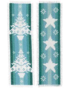 Vervaco borduurpakket 2 boekenleggers Nordic Christmas borduren pn-0158102