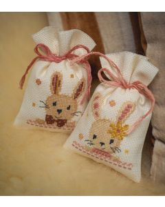 Vervaco borduurpakket kruidenzakje 2st. lieve konijntjes pn-0187953