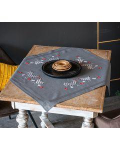 Vervaco borduurpakket tafelkleed haan en kip pn-0186078 voorbedrukt borduren