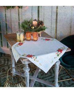 Vervaco borduurpakket tafelkleed kerstbloemen pn-0157190