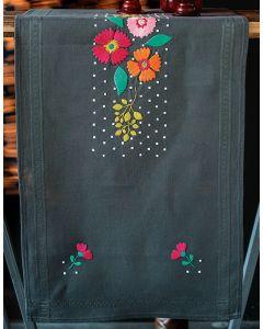 Vervaco borduurpakket tafelloper haan en kip van Vervaco pn-0186090 voorbedrukt borduren
