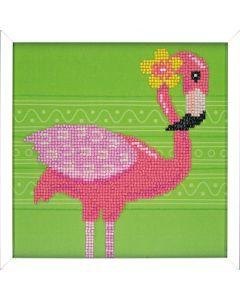 Vervaco diamond painting Flamingo incl. frame voor kinderen PN-0186097