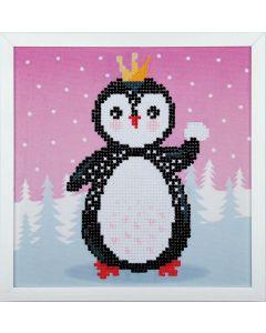 Vervaco diamond painting Pingouin incl. frame voor kinderen PN-086098
