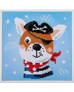 Vervaco diamond painting szeeroverhond incl. frame voor kinderen pn-0183219
