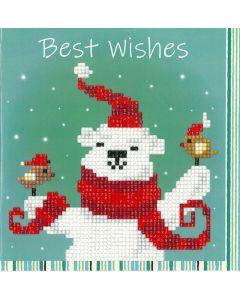 Vervaco Diamond Painting wenskaart Vrolijke Kerst ijsbeern pn-0183278