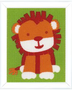 Vervaco kinder borduurpakket Leeuwtje  in halve kruissteek pn-0147433