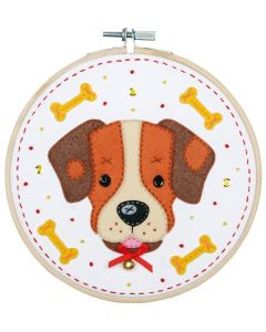 Vervaco knutselpakket met vilt hondje pn-0186178
