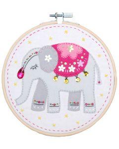 Vervaco knutselpakket met vilt olifant pn-0180499 voor kinderen