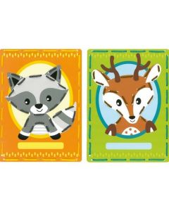 Borduurpakket 2 Borduurkaarten Wasbeer en hert van Vervaco zeer makkelijk om te borduren. vervaco pn-0168738